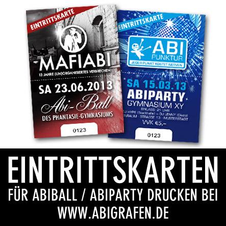 Abi Druckerei: Eintristtkarten drucken für Abiball oder Abiparty