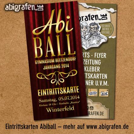 Eintrittskarten drucken für die Abschlussfeier oder den Abiball bei abigrafen.de