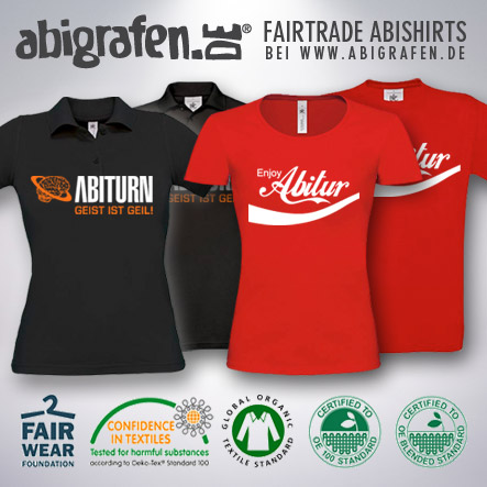 Abishirts Fairtrade Fairtrade Abishirts mit individuellem Abimotto bedrucken