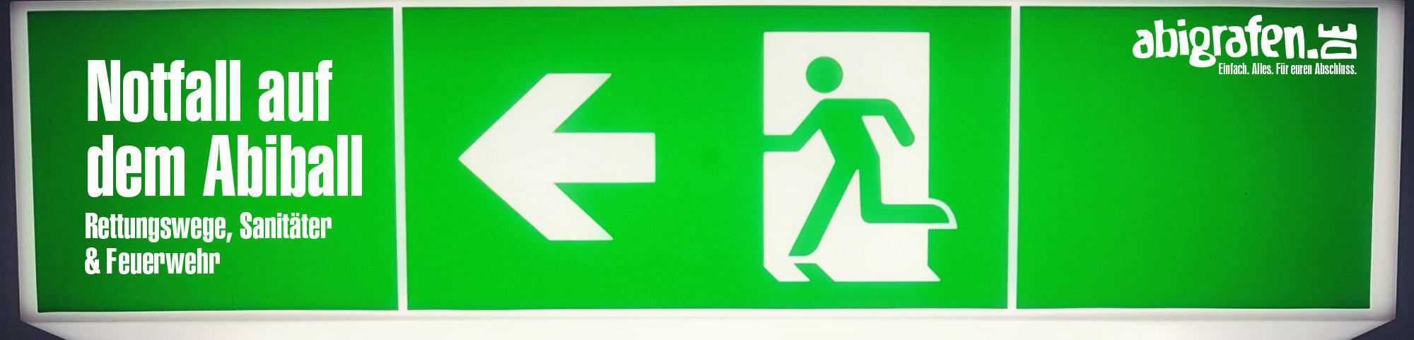 Pflichten für Abiball/Abifeier (Sanitäter, Rettungsdienst, Feuerwehr, Rettungswege)