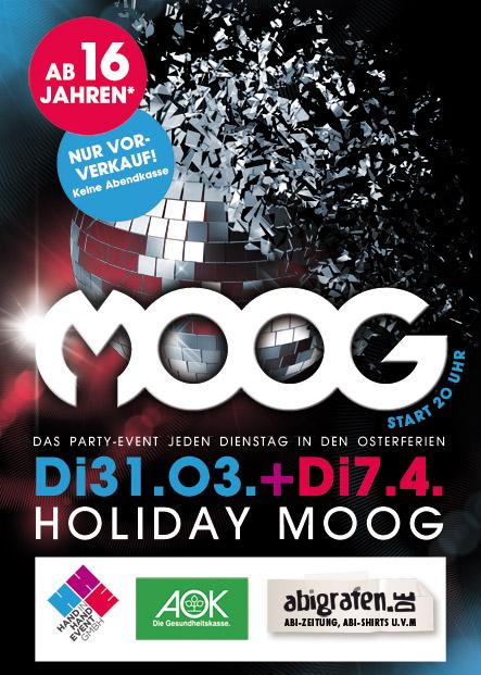Freikarten gewinnen für HOLIDAY MOOG – Das Schülerparty-Event in jeden Dienstag in den Osterferien