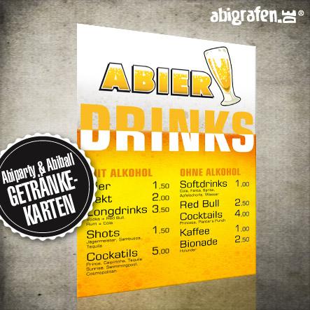 Produkte für den Abiball: individuelle Getränkekarten