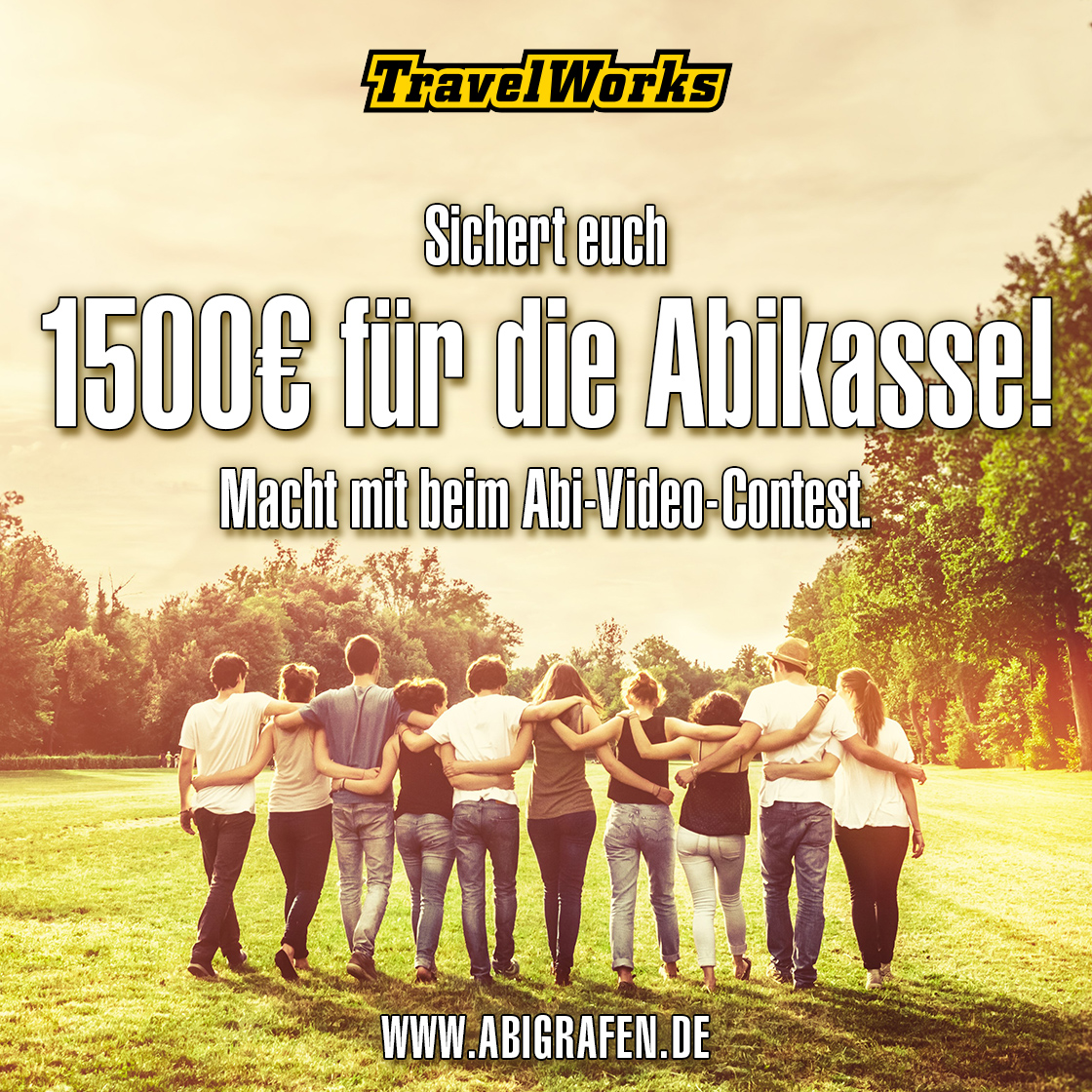 abigrafen & travelworks Gewinnspiel fürs Abi 2020