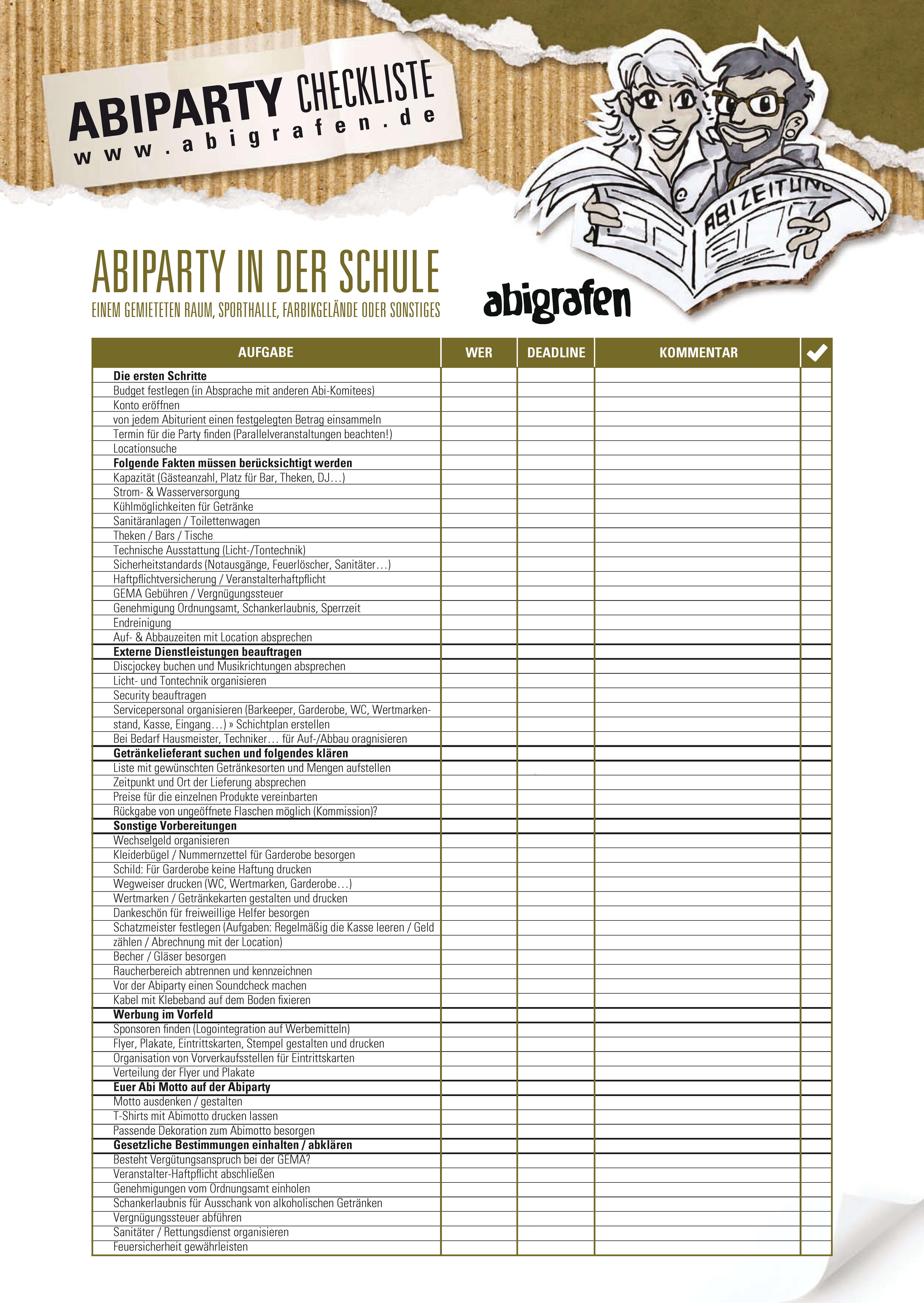 Checkliste für die richtige Wahl der Abi Party Location