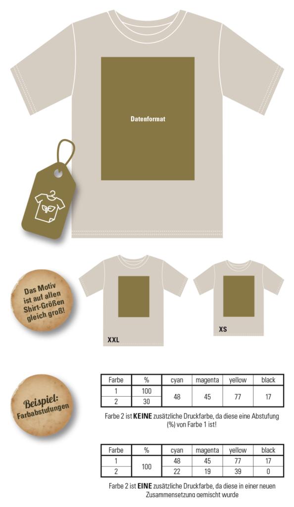 Abschlussshirts/Abishirt (bio/vegan) bedrucken: gratis Anleitung & Druckvorlage