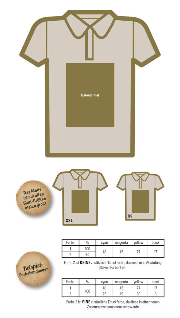 Poloshirts mit Abispruch (Motto & Stufenliste): gratis Anleitung & Druckvorlage