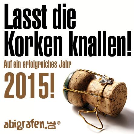 happy new year: lasst die korken knallen!