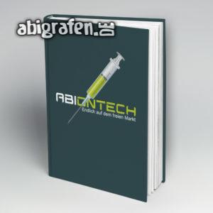 ABIontech Abi Motto / Abibuch Cover Entwurf von abigrafen.de®