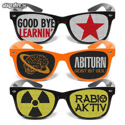 Accessoires für die Abi Party: individuell bedruckte Sonnenbrillen