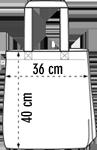 Jutebeutel / Baumwolltaschen Druckmaße