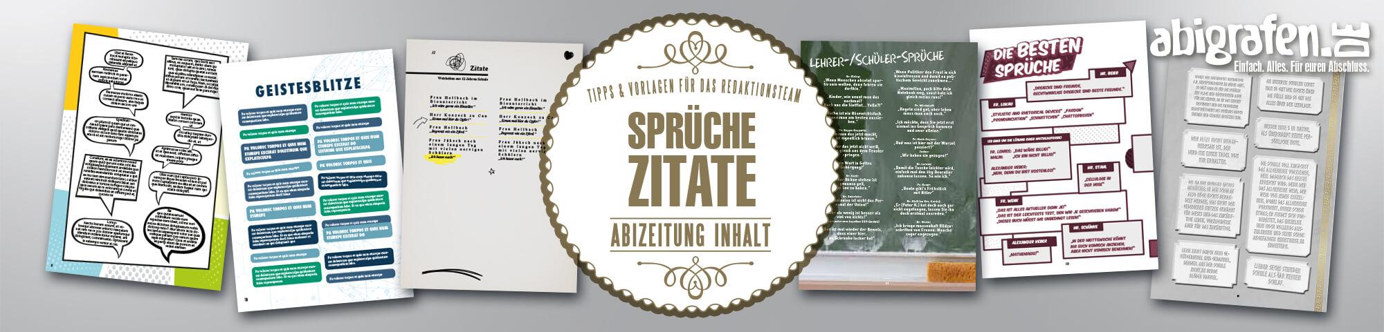 Beispiel-Layout für Zitatesammlung/Sprüchesammlung in Abizeitungen/Abibüchern