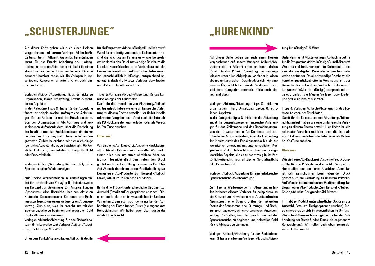 Beispiele mitschüler abizeitung über texte Was meine
