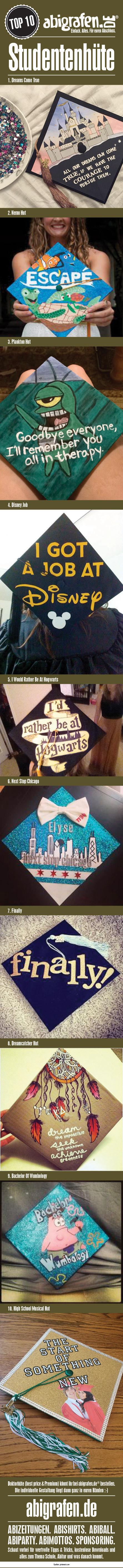 #doktorhüte #studentenhüte #college #caps #Schülerhut #Graduation #Cap #Senior #Cap #Abschlusshut #Hut #Abitur