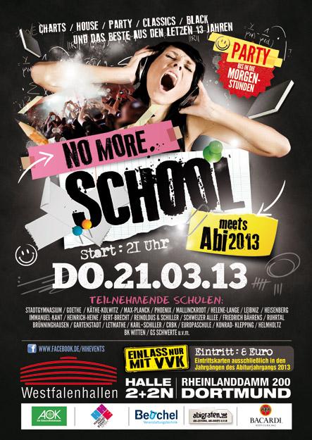 Abiparty Dortmund. no more school. Wesfalenhalle Dortmund