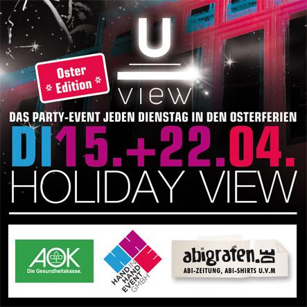 """Party ab 16 Dortmund """"Holiday View - OSteredition"""" jeden Dienstag in den Ferien"""