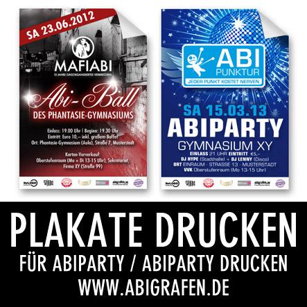 Abi Druckerei: Plakate drucken für Abiparty / Abiball / Abifeier