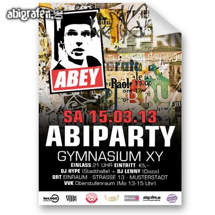 Werbemittel für die Abi Party drucken: individuelle Poster/Plakate