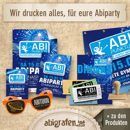 Produkte für die Abi Party / Abifete / Abifeier kaufen