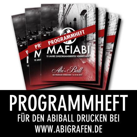 Abi Druckerei: Programmheft Abiball / Abifeier drucken