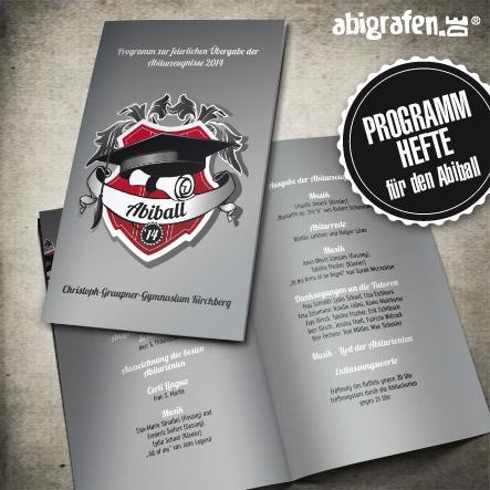 Produkte für den Abiball: individuelle Programmhefte (Klappkarten)