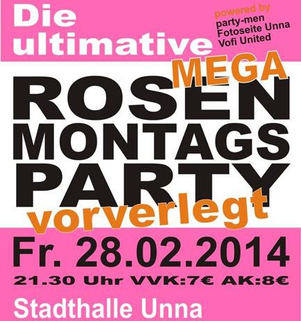 Rosenmontag-Vorverlegt-Party in der Stadthalle Unna. Schulparty Unna. Schülerparty Unna