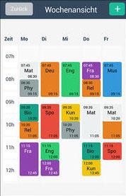 Screenshot App für Abiturvorbereitung iPad oder iPhone (Stundenplan, Organisation, Klausurtermine etc.)