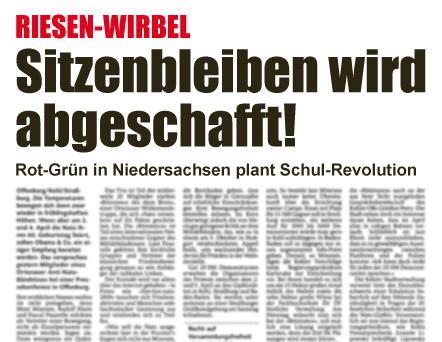 Sitzenbleiben wird abgeschafft! Rot-Grün in Niedersachsen plant Schul-Revolution