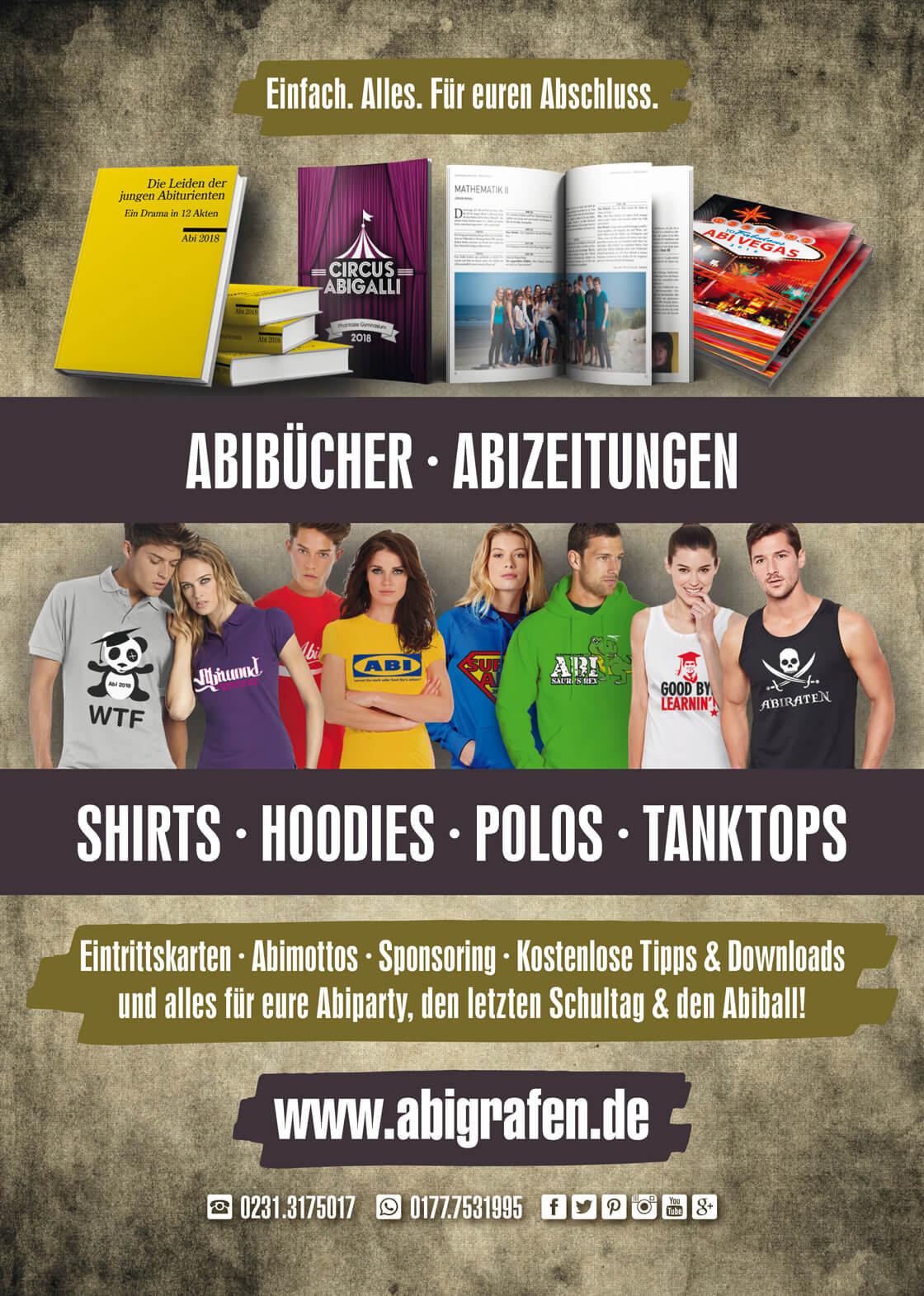 Sponsorenanzeige Abizeitung/Abibuch von abigrafen.de