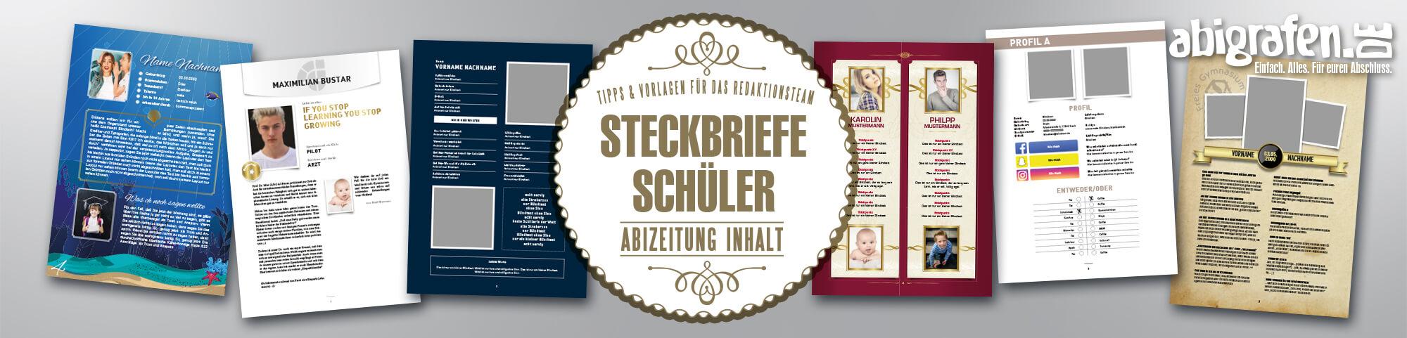 Abizeitung Steckbriefe Gestalten Jilster 12 7