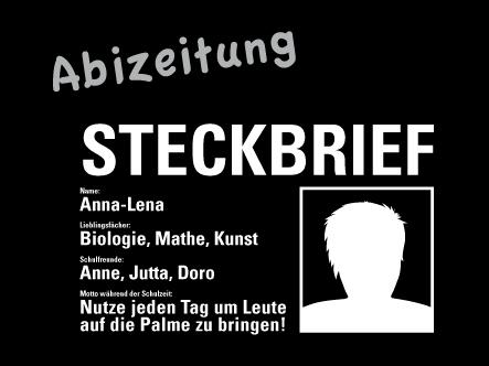 Steckbrief ideen abizeitung Lehrer steckbrief