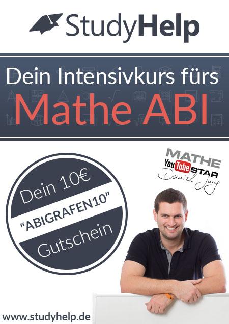 Rabattcode StudyHelp – abigrafen.de Abishop (Gutschein für Intensivkurs Abitur / Fach Mathematik)