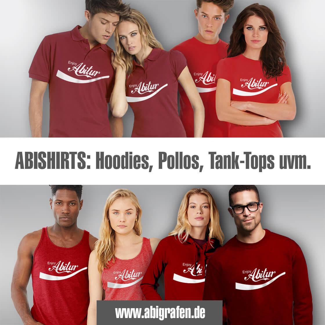 Textildruck für Abschluss & Abi: Siebdruck oder Digitaldruck auf Abishirts, Abipullis & Co