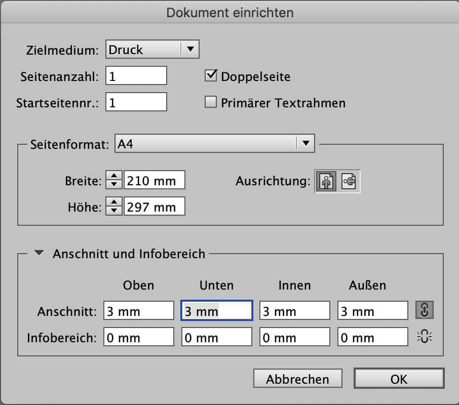 abigrafen.de - Schritt für Schritt Anleitung: Beschnittzugabe InDesign®