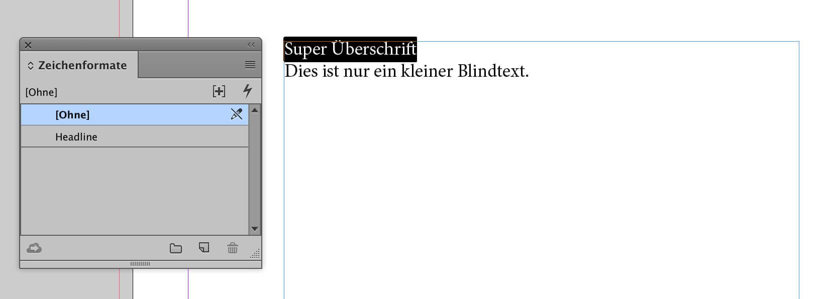 abigrafen.de - Schritt für Schritt Anleitung: Zeichenformate in InDesign®