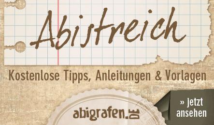 abigrafen.de - kostenlose Tipps & Tricks für den Abistreich