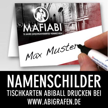 Abi Druckerei: Tischkarten / Namenschilder für euren Abiball / die Abifeier
