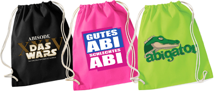 Abishop Turnbeutel / Abibag mit Abimotto