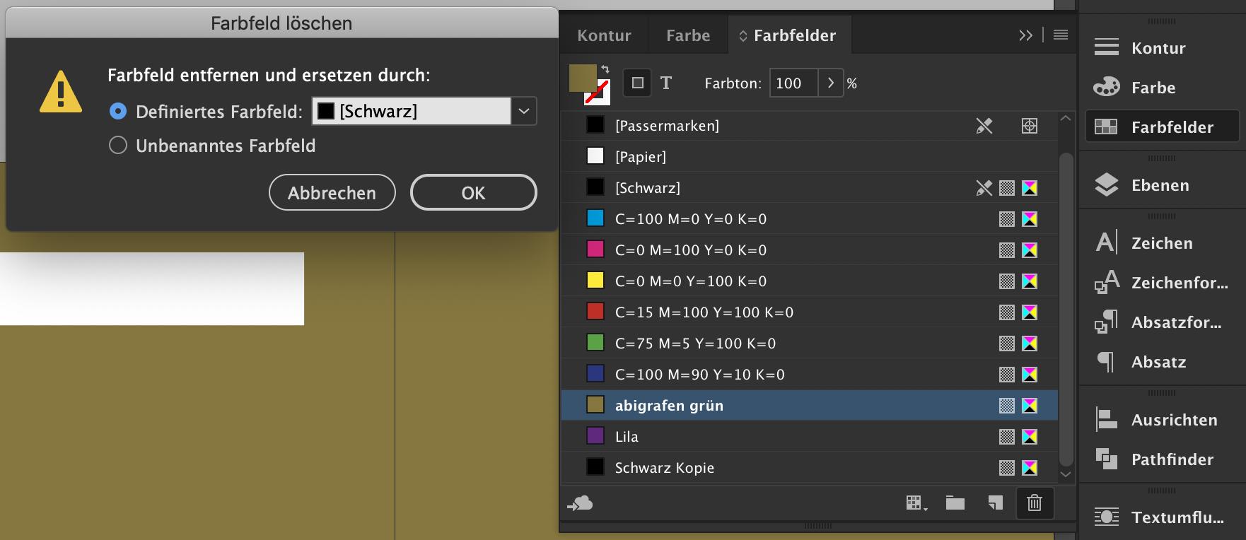 Abizeitung Schritt für Schritt Anleitung: Farben in InDesign® bearbeiten