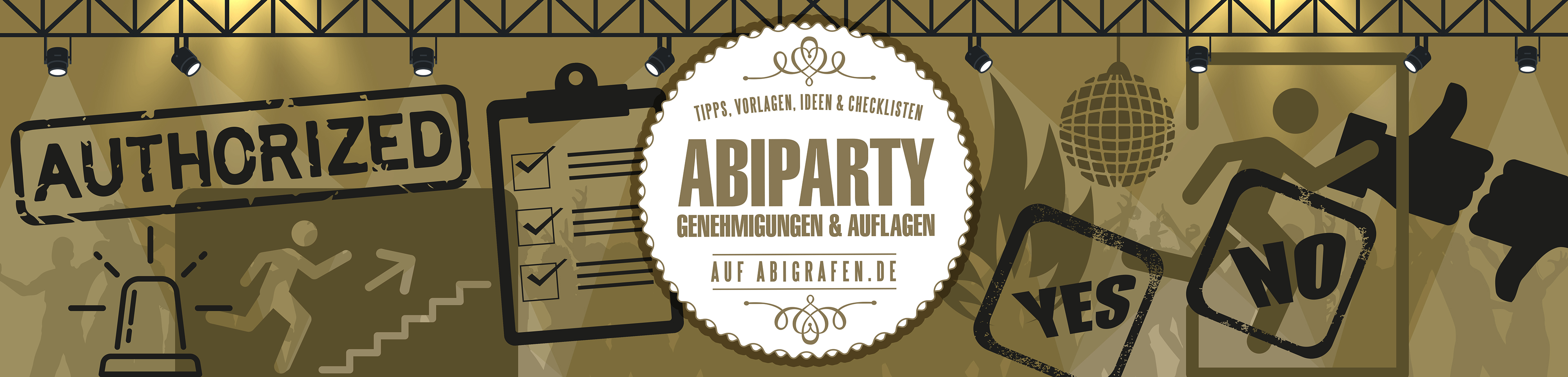Abi Party: wichtige Informationen zu Genehmigungen & Steuern (Ordnungsamt, Schankerlaubnis, Vergnügungssteuer, Gema-Gebühren, Notausgänge, Rettungswege, Sanitäter etc.)