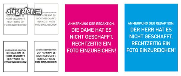 Kostenlose Vorlage für Abizeitung/Abibuch (Platzhalter Steckbrief – Spruch))