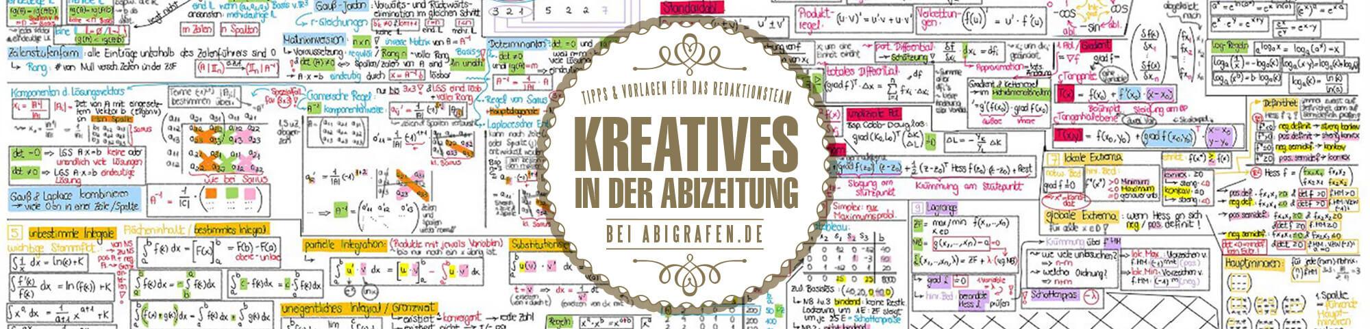 Vorlagen für das Redaktionsteam (kreative Beiträge Abibuch/Abizeitung)