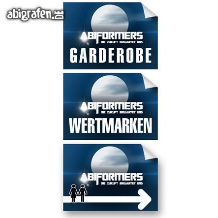 Drucksachen für die Abi Party: individuelle Wegweiser/Schilder