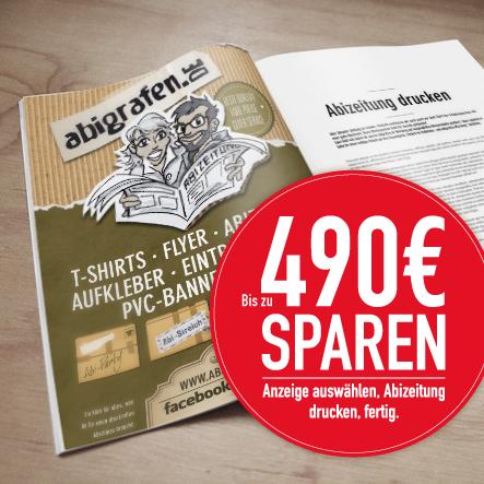 Werbeanzeigen Abizeitung / Abibuch auswählen und direkt Geld sparen