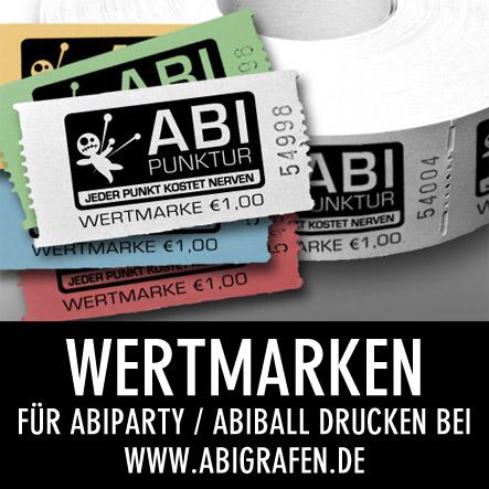 Abi Druckerei: Wertmarken mit Abi Motto für Abiparty / Abifete / Abiball