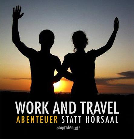 work and travel statt hörsaal