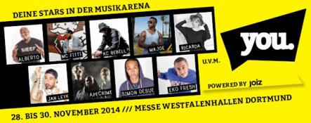 YOU Dortmund – Leitmesse für Jugendkultur: Musikprogrogramm